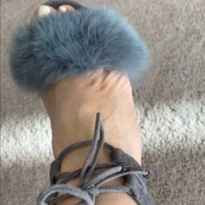 Michael Kors Shoes - Gorgeous Fashionable Grey suede fur MK heels